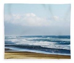 Summer Waves Netarts Oregon Fleece Blanket