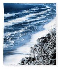 Summer Waves Cape Lookout Oregon Coast Fleece Blanket