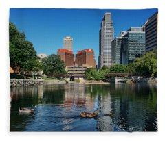 Summertime - Gene Leahy Mall Fleece Blanket