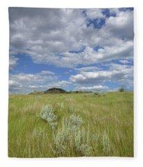 Summertime On The Prairie Fleece Blanket