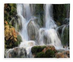Summit Creek Waterfalls Fleece Blanket