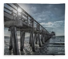 Sun And Fun In Naples Florida Fleece Blanket