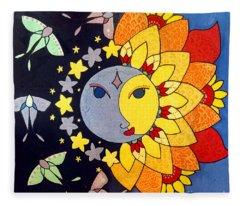 Sun And Moon Fleece Blanket