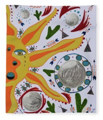 Sun And Moons Fleece Blanket