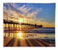 Sun And Shadows Fleece Blanket