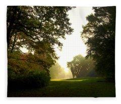 Sun Beams In The Distance Fleece Blanket