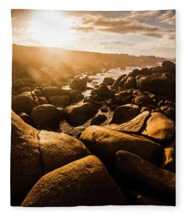 Sun Bleached Australia Beach Fleece Blanket
