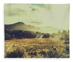 Sun Bleached Australia Fleece Blanket
