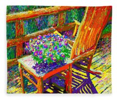 Sun Dance On Deck Fleece Blanket