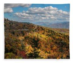 Sun Dappled Mountains Fleece Blanket