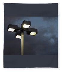 Sun Down, Lights Up - Fleece Blanket