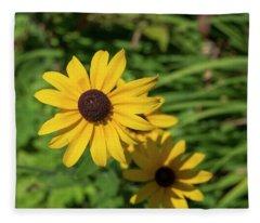 Sun Drenched Daisy Fleece Blanket