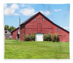 Sun Flower Barn Fleece Blanket