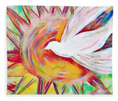 Healing Wings Fleece Blanket