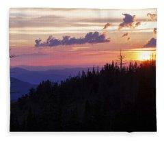 Sun Over Cedar Fleece Blanket