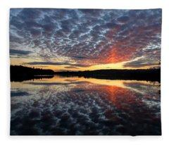 Sun Pillar At Sunset Fleece Blanket