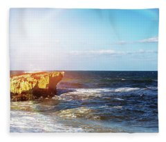 Sun Rays On Shore Of Cozumel Fleece Blanket