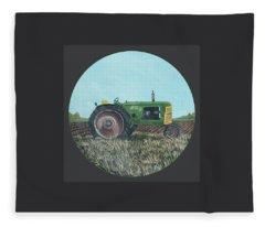 Sun Rays Tractor Fleece Blanket