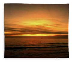 Sun Set On The Gulf Fleece Blanket