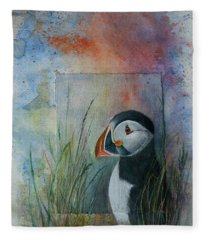 Sun Set Puffin Fleece Blanket