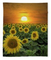 Sun-shiny Day Fleece Blanket