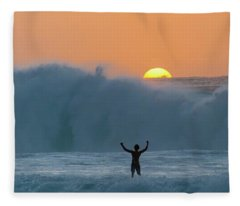 Sun Worship Fleece Blanket
