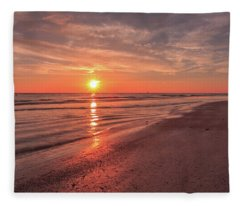 Sunburst At Sunset Fleece Blanket