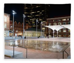 Sundance Square Fort Worth 3 Fleece Blanket
