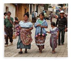 Sunday Morning In Guatemala Fleece Blanket
