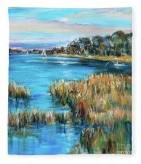 Sunday On The River Fleece Blanket