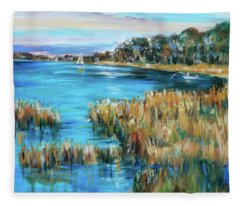 Sunday On The River Fleece Blanket