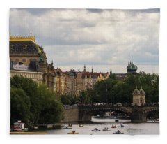 Fleece Blanket featuring the photograph Sunday On The Water by Alex Lapidus