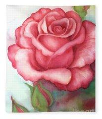 Sunday Rose Fleece Blanket