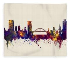 Sunderland England Skyline Fleece Blanket