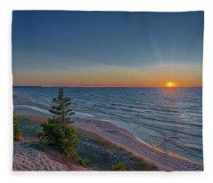 Sundown At Beaver Creek Fleece Blanket