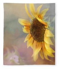 Sunflower Art - Be The Sunflower Fleece Blanket