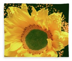 Sunflower Art Fleece Blanket