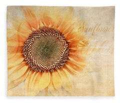 Sunflower Classification Fleece Blanket