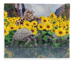 Sunflower Daydream  Fleece Blanket