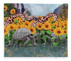 Sunflower Daydream II Fleece Blanket