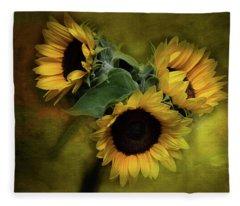 Sunflower Family Fleece Blanket