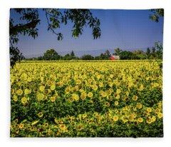 Sunflower Farm Fleece Blanket