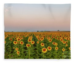 Sunflower Fields Forever Fleece Blanket