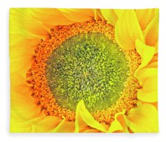 Sunflower Hdr Fleece Blanket