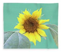 Sunflower In The Summer Time Fleece Blanket