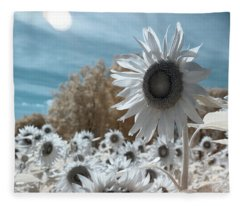 Sunflower Infrared  Fleece Blanket