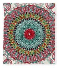 Sunflower Mandala Fleece Blanket