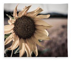 Sunflower Solitude Fleece Blanket