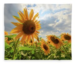 Sunflower Star Fleece Blanket