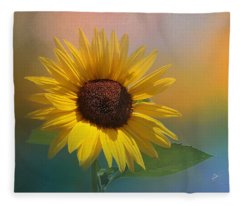 Sunflower Summer Fleece Blanket